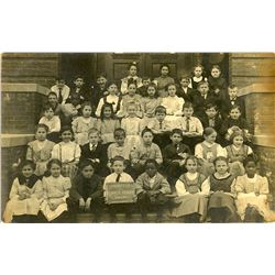 Antique / Vintage Real Photo PC Post Segregation Elementary