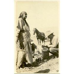 Antique / Vintage Real Photo PC Indian Cowboy