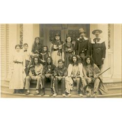 Antique / Vintage Real Photo PC Indians and Pilgrims Halloween?