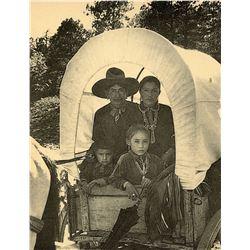Antique / Vintage Real Photo PC Navaho Family Wagon