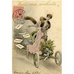 Antique / Vintage Postcard Art Nouveau Transportation