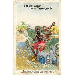 Antique / Vintage Postcard Car Oil Advertising