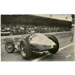 Antique / Vintage Photo PC Grand Prix D'Albi Racing