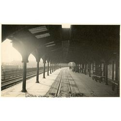 Antique / Vintage Rare Postcard India Train Station