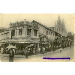 Antique / Vintage Rare Postcard India Street