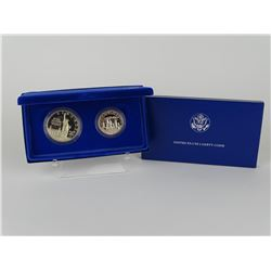 1986 U.S. LIBERTY PROOF TWO-COIN SET