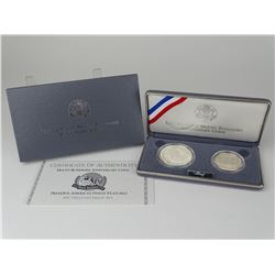 1991 MT. RUSHMORE TWO-COIN PROOF SET