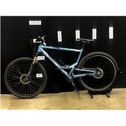 BLUE CANNONDALE JEKYLL 500 24 SPEED FULL SUSPENSION MOUNTAIN BIKE WITH FRONT AND REAR DISC BRAKES,