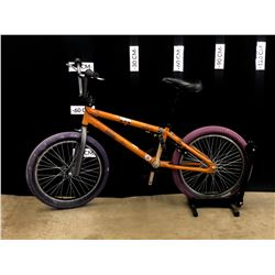 BROWN NORCO RIVET BMX BIKE, REAR BRAKE ONLY, 24 CM FRAME SIZE