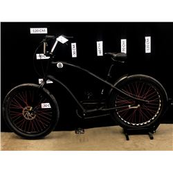 BLACK ELECTRA DREAM RIDER SERIES 3 SPEED CRUISER/CHOPPER STYLE BIKE WITH PEDAL BRAKE AND FRONT