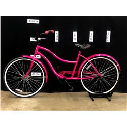 PINK CAPIX APLAYADO SINGLE SPEED CRUISER BIKE WITH PEDAL BRAKE