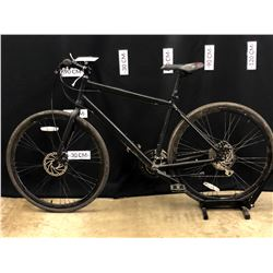 BLACK SCHWINN 24 SPEED HYBRID TRAIL BIKE WITH FRONT AND REAR DISC BRAKES, 80 CM STANDOVER HEIGHT