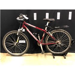 RED DIAMONDBACK SORRENTO 21 SPEED FRONT SUSPENSION TRAIL BIKE, GEARS NEED MAINTENANCE, 73 CM
