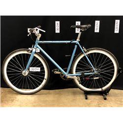 BLUE NO NAME SINGLE SPEED ROAD BIKE WITH FLIP-FLOP HUB, 79 CM STANDOVER HEIGHT