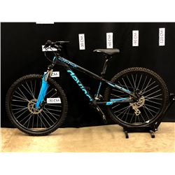 BLACK DEVINCI CHUCK 21 SPEED FRONT SUSPENSION MOUNTAIN BIKE WITH FRONT AND REAR DISC BRAKES, 70 CM