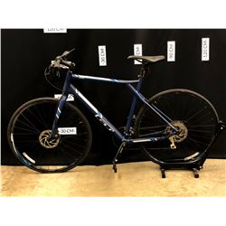 BLUE GT GRADE 24 SPEED HYBRID TRAIL BIKE WITH FRONT AND REAR DISC BRAKES, 80 CM STANDOVER HEIGHT