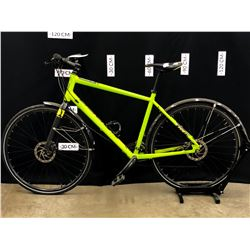 GREEN NORCO INDIE 7 24 SPEED HYBRID TRAIL BIKE WITH FRONT AND REAR HYDRAULIC DISC BRAKES, 82 CM