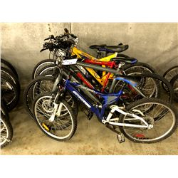 LOT OF 6 ASSORTED PARTS ONLY/POOR CONDITION BIKES, VARYING CONDITIONS, VARYING BRANDS