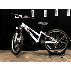 BLUE NORCO DIVA 18 SPEED YOUTH SIZE FRONT SUSPENSION MOUNTAIN BIKE, STANDOVER HEIGHT 54CM,