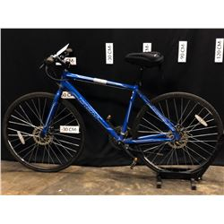"BLUE CCM VECTOR 21 SPEED HYBRID TRAIL BIKE, 19"" FRAME SIZE , 80 CM STANDOVER HEIGHT"