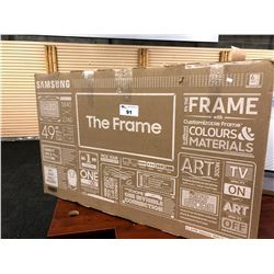 "SAMSUNG ""THE FRAME"" 49""4K TV, MODEL QN49LS03RAF, WITH REMOTE"