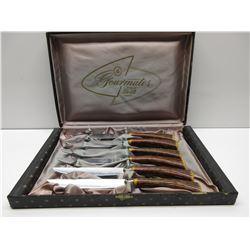 Vintage Gourmates Steak knives set of 6