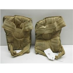 Vintage Suede Leather Hockey Elbow Pads