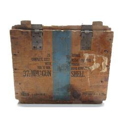37 MM Gun Shell Wood Box