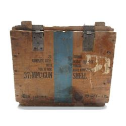 37 MM Gun Shell Wood Box