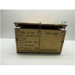 9MM Blank Ammo Wood Box