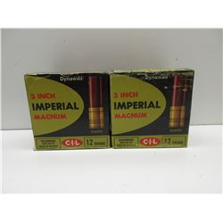 "2 Full Boxes of CIL 12 gauge 3"" #4 shot"