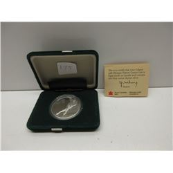 1988 Calgary $20.00 Olympic Coin Speed Skater