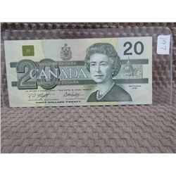 1991 Canadian 20 Dollar Bill