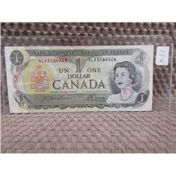 1973 Canadian 1 Dollar Bill