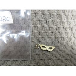 10 KT Gold Charm of Mask .79 grams