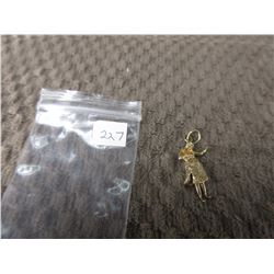 10 KT Gold Charm of Woman 2.47 grams