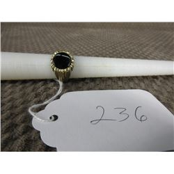 10KT Gold Ring with Black Onyx