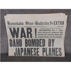 """December 7, 1941 Edmonton Star Bulletin """"War"""""""