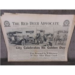 """March 25, 1963 Red Deer Advocate """"50th Anniversary of Red Deer"""""""