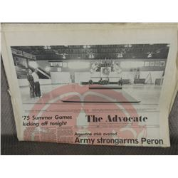 "August 28, 1975 Red Deer Advocate ""Summer Games"""