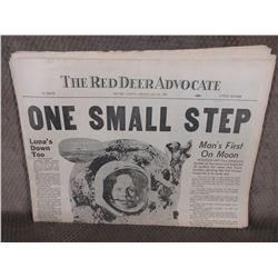 """July 21, 1969 Red Deer Advocate """"Moon Landing"""""""