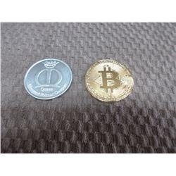 Bitcoin Token & Mardi Gras Dubbloon 1998