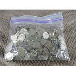 Approximately 185 American Nickels