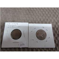 American Buffalo Head Nickel & 1918 Penny
