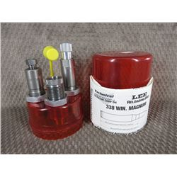 Lee 338 Winchester Magnum 3 Die Set with Shell Holder