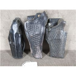 3 Black Handgun Holsters