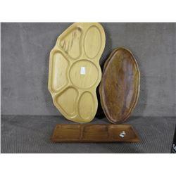 3 Wood Trays