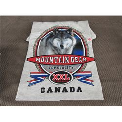 New Wolf T-Shirt Grey XL Made In Canada