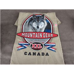 New Wolf T-Shirt Brown XL Made In Canada