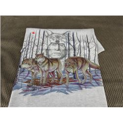 New Wolf T-Shirt Grey XXL Made In Canada